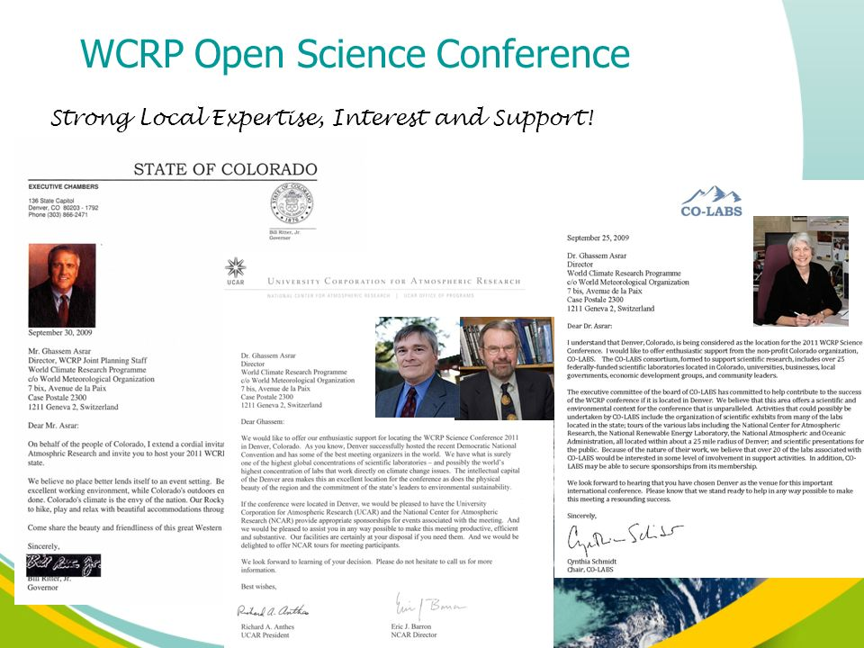 Strong Local Expertise, Interest and Support! WCRP Open Science Conference