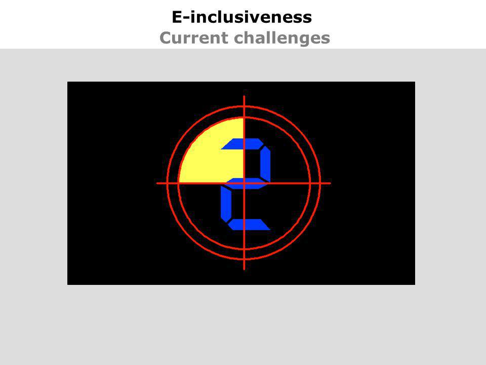 23 E-inclusiveness Current challenges