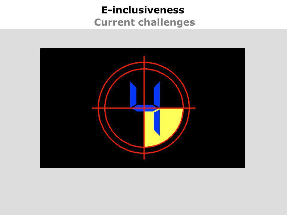 29 E-inclusiveness Current challenges