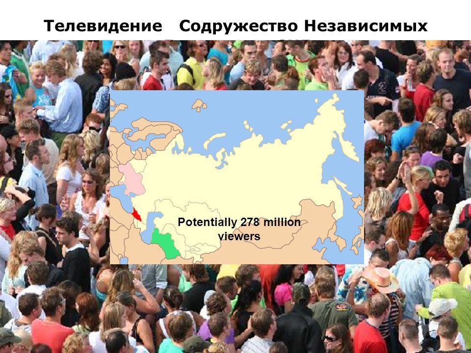 3 Телевидение Содружество Независимых Государств, СНГ Potentially 278 million viewers