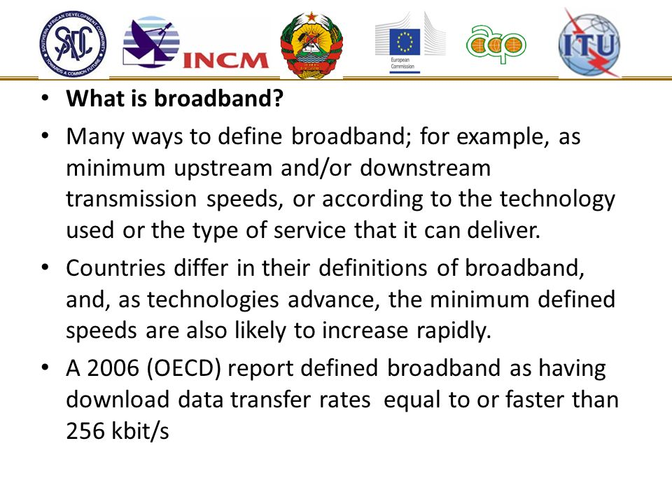 What is broadband.