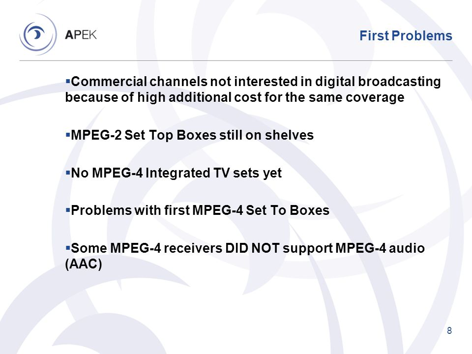 Possible convergence of services As mobile operators are becoming pipes for OTT (Over the Top Services) As terrestrial broadcasting service providers face challenges of high network costs As content providers face high costs of providing content over terrestrial DTT networks As both services need more spectrum Future might be in cooperation between mobile/broadcasting operators and broadcasting content providers 19
