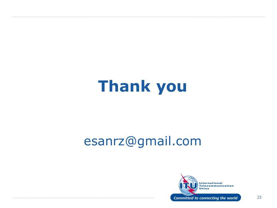 23 Thank you esanrz@gmail.com