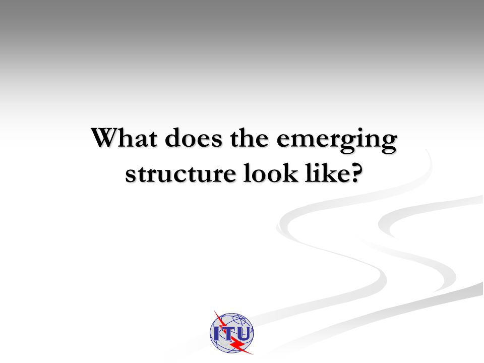 What does the emerging structure look like