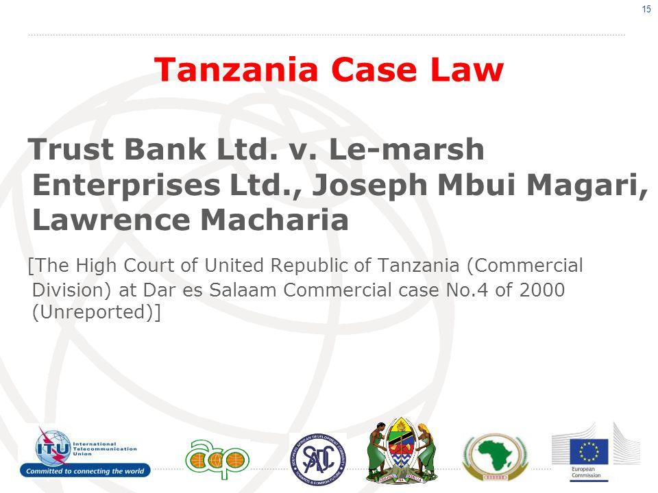 Tanzania Case Law Trust Bank Ltd. v.