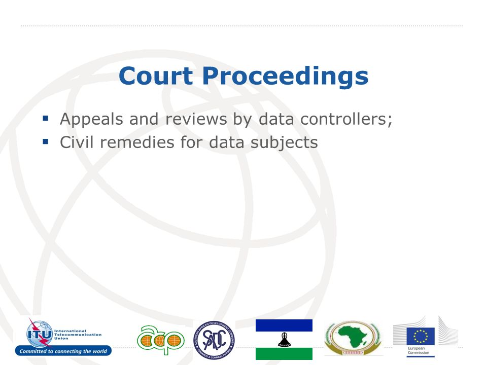 Court Proceedings Appeals and reviews by data controllers; Civil remedies for data subjects