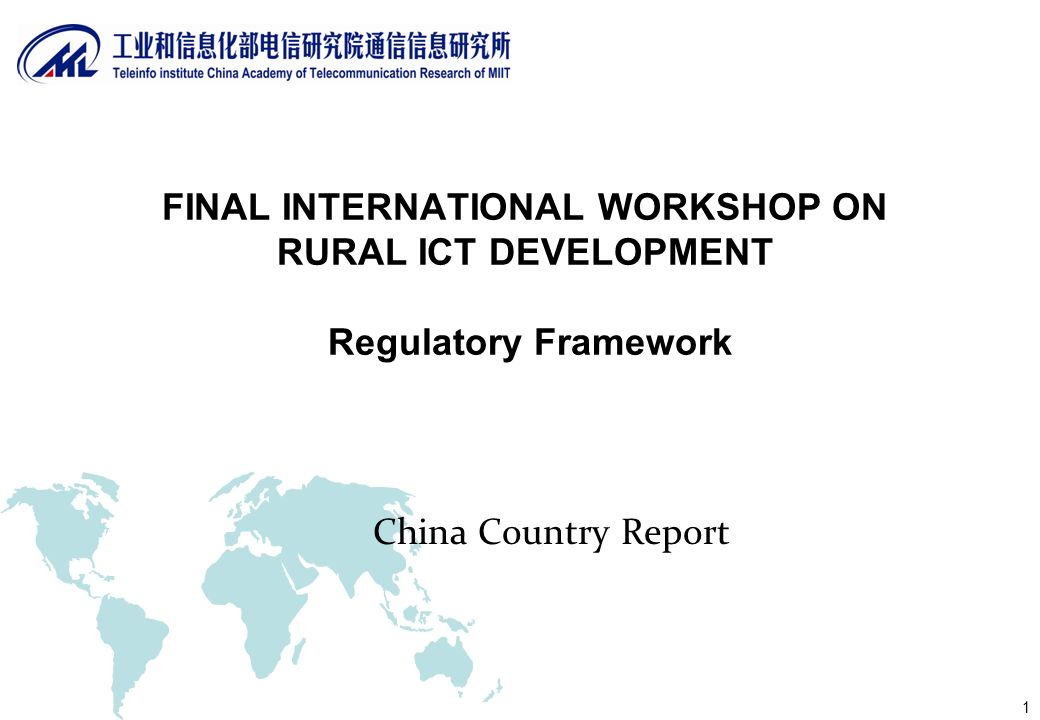 2 Policies and regulations In September 2000, Telecommunications regulation of the People s Republic of China was enacted.