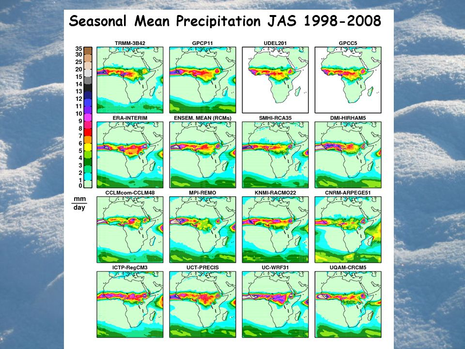 Seasonal Mean Precipitation JAS 1998-2008