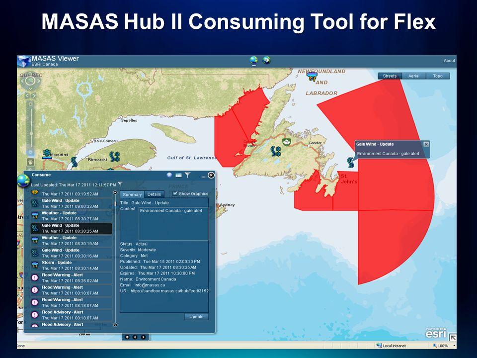 MASAS Hub II Consuming Tool for Flex