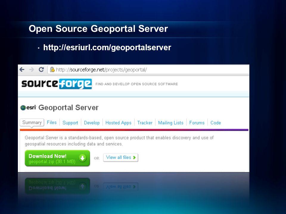 Open Source Geoportal Server http://esriurl.com/geoportalserver