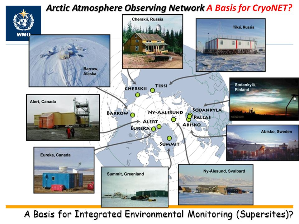 Arctic Atmosphere Observing Network Arctic Atmosphere Observing Network A Basis for CryoNET.