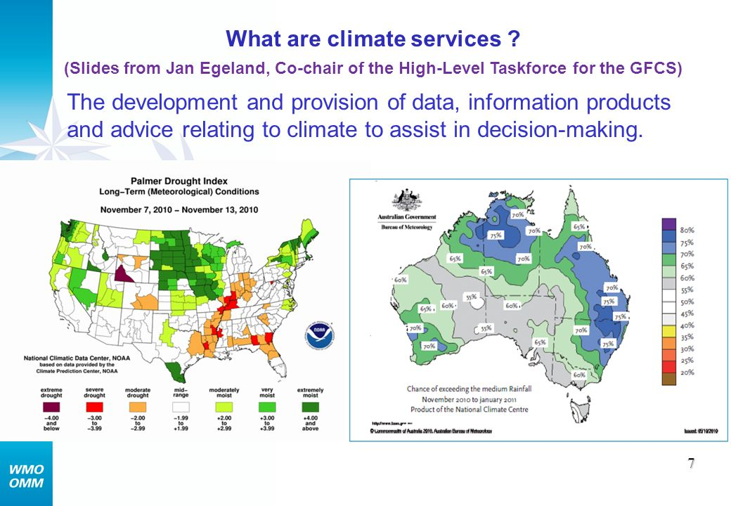 What benefits.8 Strengthened climate services will lead to improved decisions and i.a.