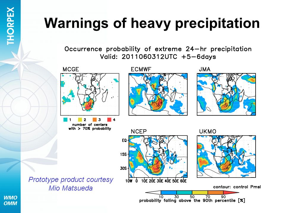 Warnings of heavy precipitation Prototype product courtesy Mio Matsueda