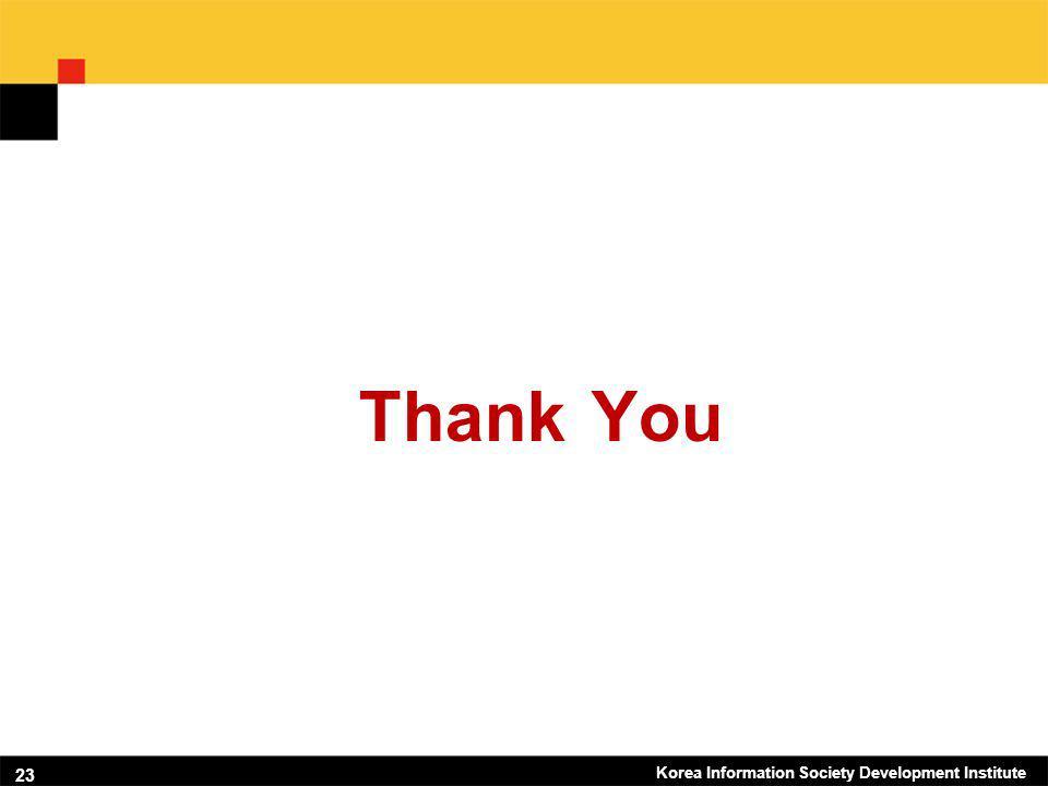 Korea Information Society Development Institute 23 Thank You