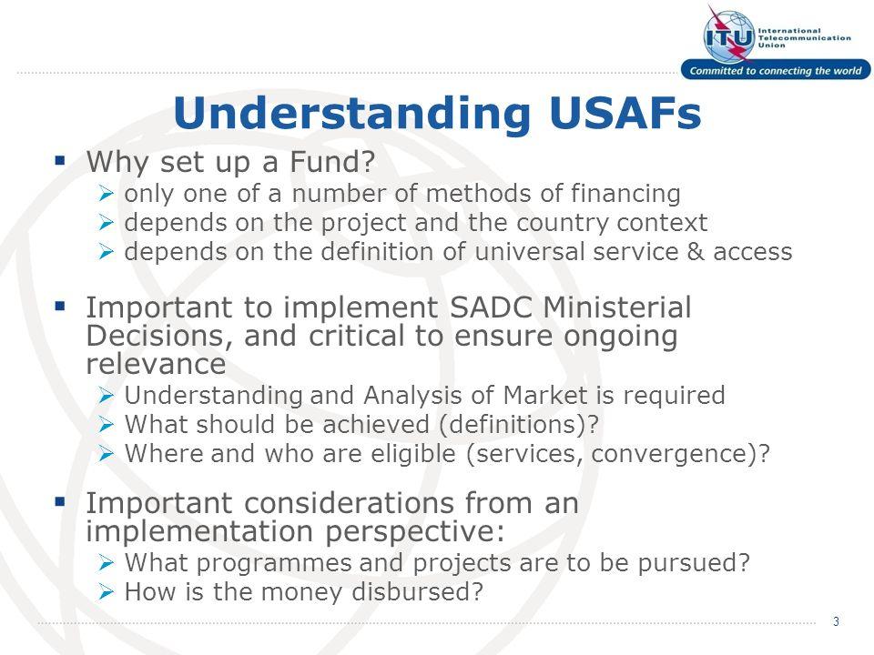Understanding USAFs Why set up a Fund.