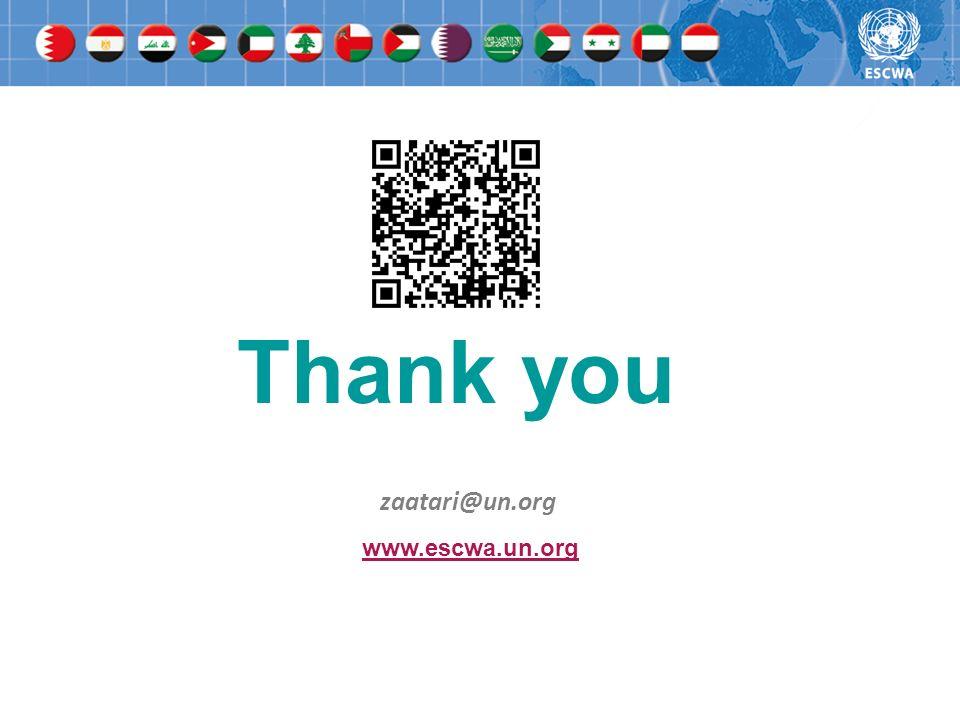 Thank you zaatari@un.org www.escwa.un.org