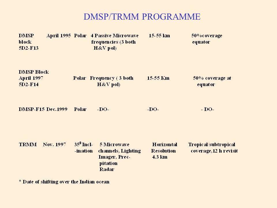 DMSP/TRMM PROGRAMME