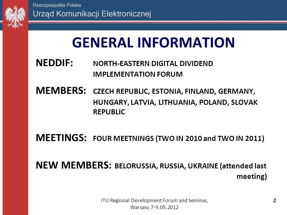 ITU Regional Development Forum and Seminar, Warsaw, 7-9.05.2012 13 Results (cont.)...