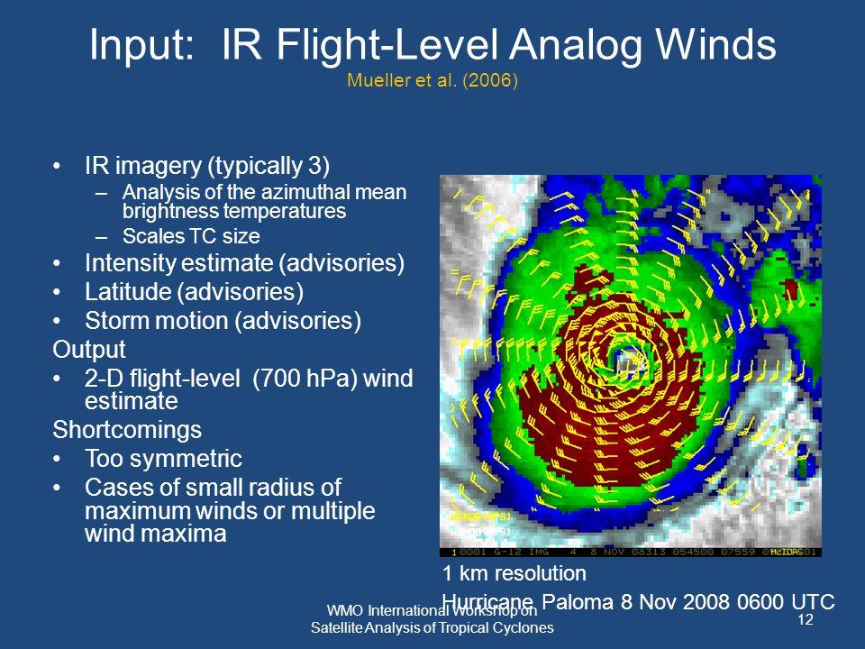 Input: IR Flight-Level Analog Winds Mueller et al.