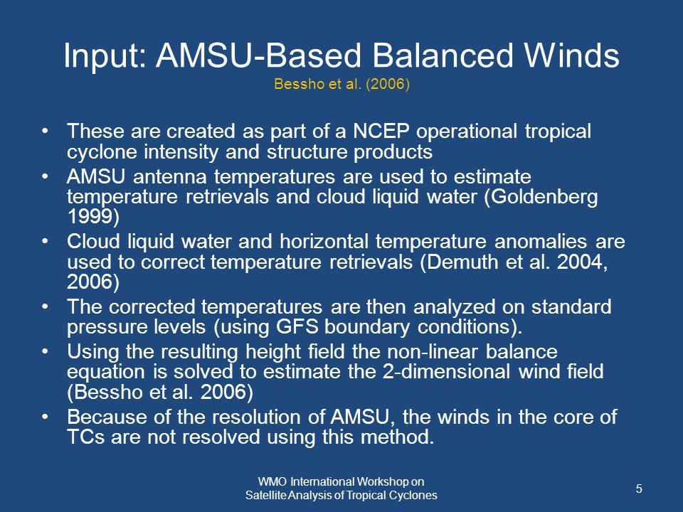 Input: AMSU-Based Balanced Winds Bessho et al.