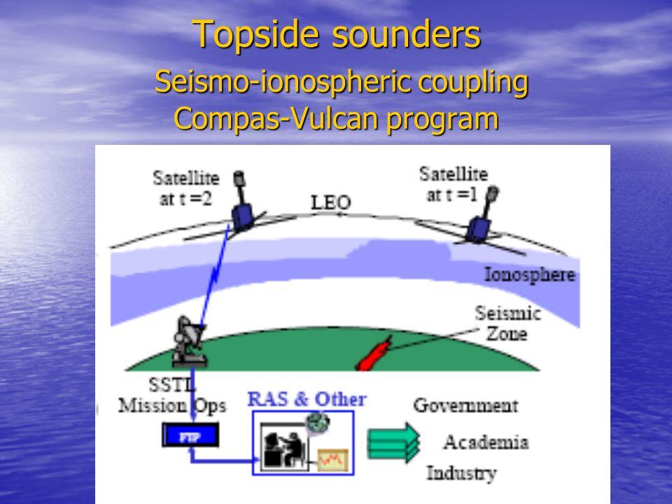 Topside sounders Seismo-ionospheric coupling Compas-Vulcan program