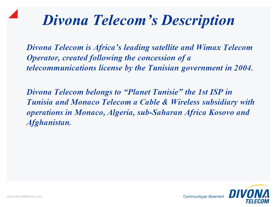 WiMAX Consumers: Fixed-Line application ++ DSL Access Mobile Subs Win more customers and revenues through: offering double play services with highest capacity offering limited mobility Phone Line