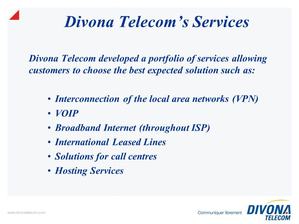 Thank you Immeuble DIVONA TELECOM Rue du Lac de Côme - 1053 Les Berges du Lac Tél.: 71 964 707 - Fax: 71 961 808 www.divonatelecom.com