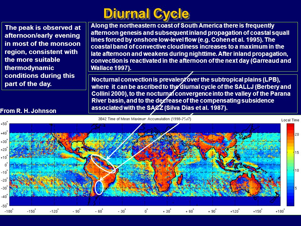 Along the northeastern coast of South America there is frequently afternoon genesis and subsequent inland propagation of coastal squall lines forced b