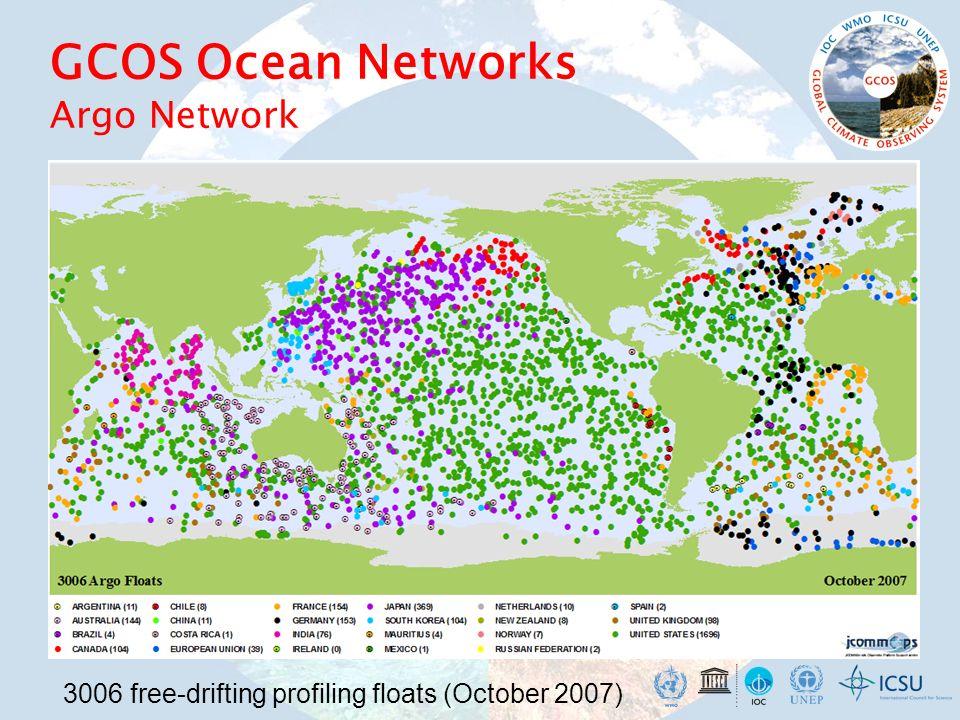 GCOS Ocean Networks Argo Network 3006 free-drifting profiling floats (October 2007)