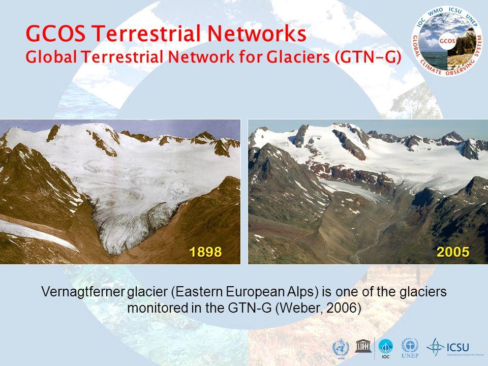 GCOS Terrestrial Networks Global Terrestrial Network for Glaciers (GTN-G) Vernagtferner glacier (Eastern European Alps) is one of the glaciers monitor