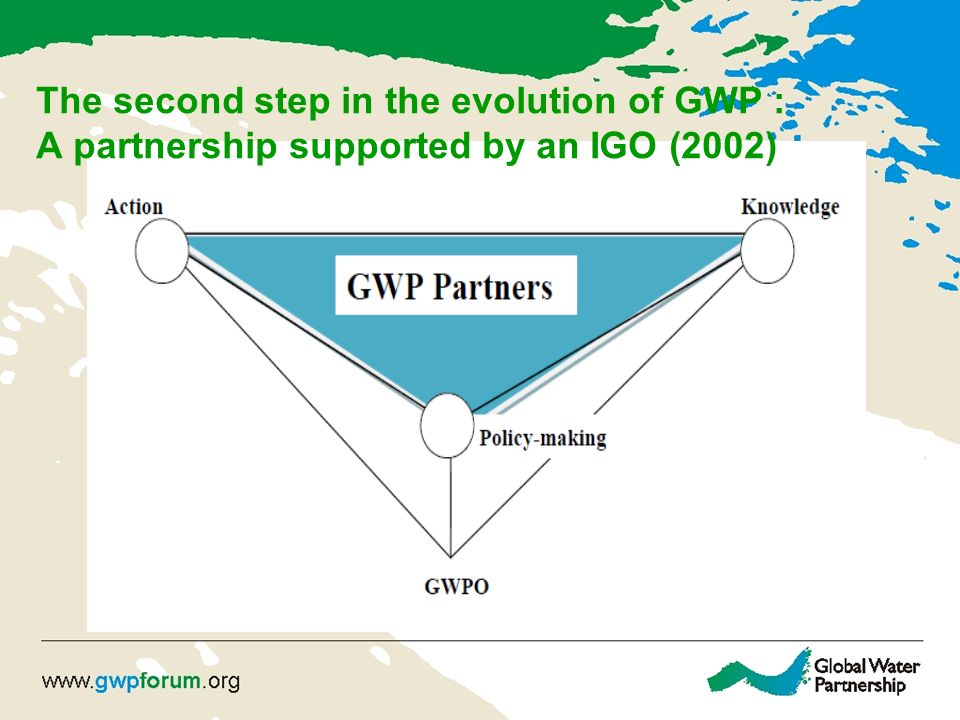The second step in the evolution of GWP : A partnership supported by an IGO (2002)