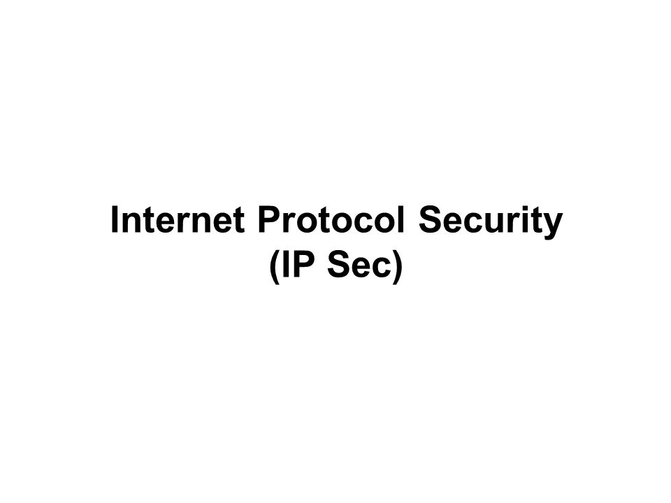 Security Association (SA) One of the most important concepts in IPSec is called a Security Association (SA).