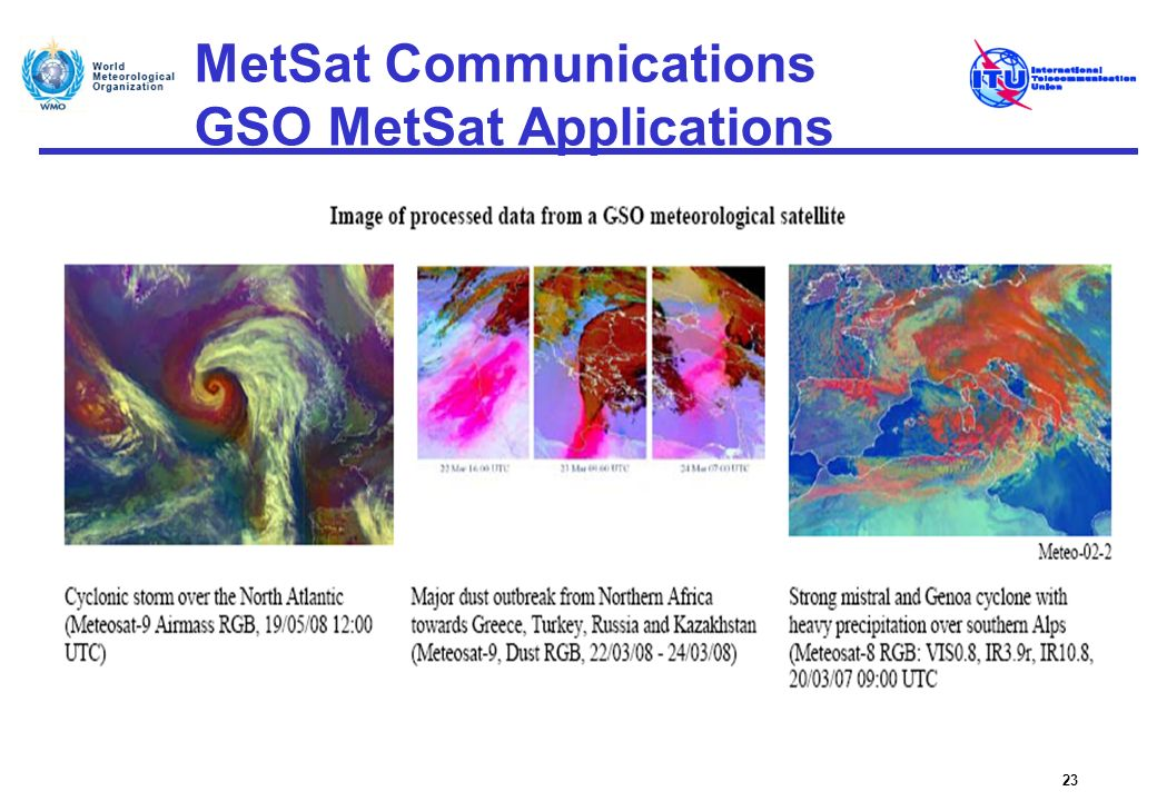 MetSat Communications GSO MetSat Applications 23