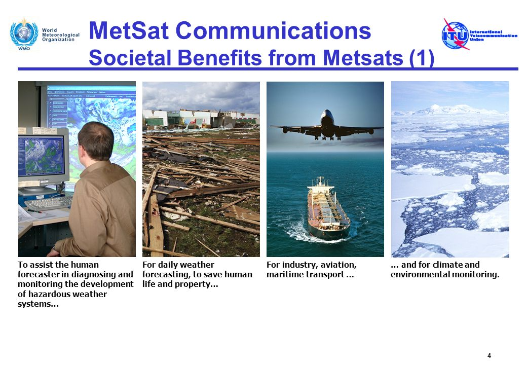 MetSat Communications GEONETCast (1) GEONETCast is a major Global Earth Observation System of Systems (GEOSS) initiative to develop a worldwide, operational, end- to-end Earth observation data collection and dissemination system, using existing commercial telecommunications infrastructure, Concept is to use the multicast capability of a global network of communications satellites to transmit environmental satellite and in situ data as well as products from providers to users, Global coverage is provided through integration of FENGYUNCast, American GEONETCast and EUMETCast, Primarily used for the distribution of image and sensor data and derived products from GSO and NGSO MetSat satellites, Also provides access to data and services from several external data providers, e.g.