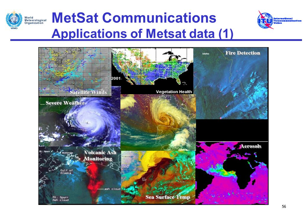 MetSat Communications Applications of Metsat data (1) 56