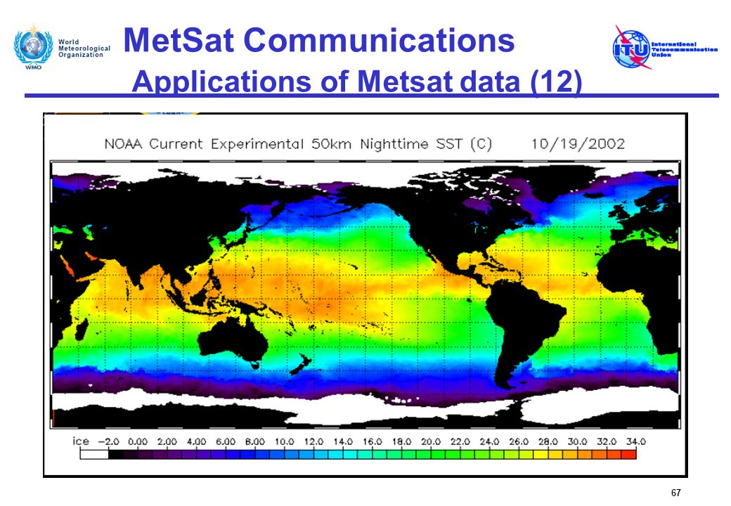 MetSat Communications Applications of Metsat data (12) 67