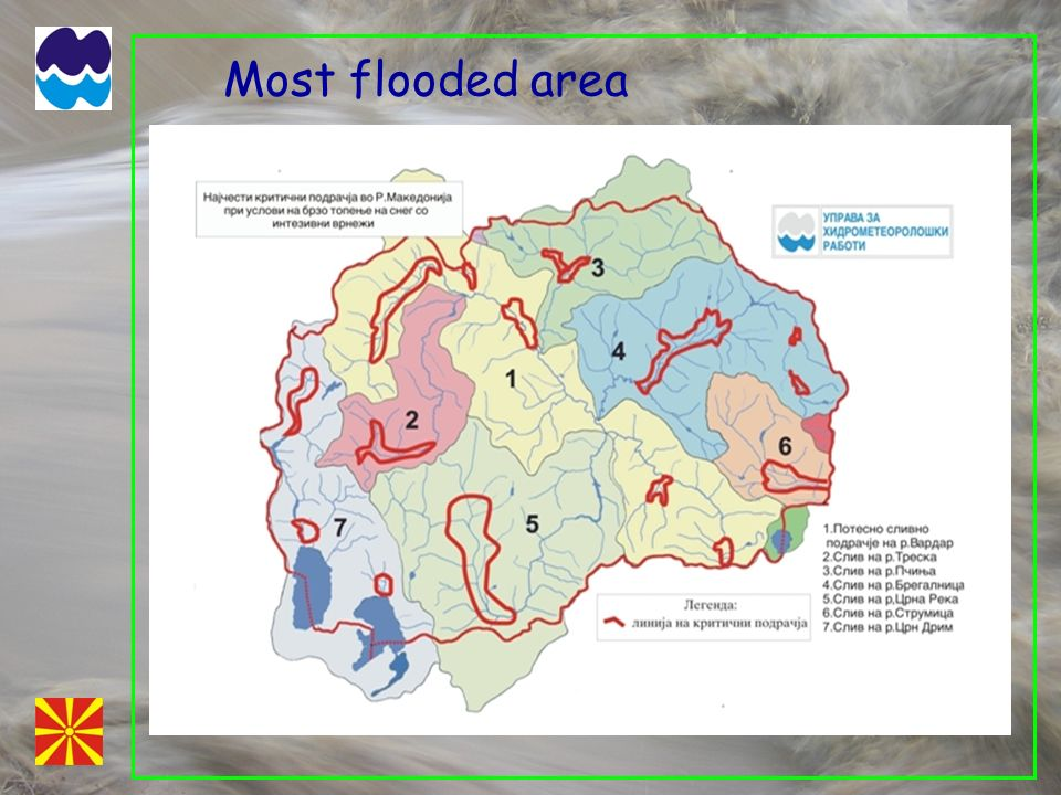 Most flooded area