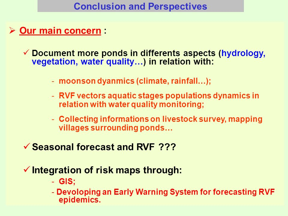 Identification of rainy season profile involved in RVF emergence in Senegal river basin RVF event Bimodal population dynamics curve for Ae.