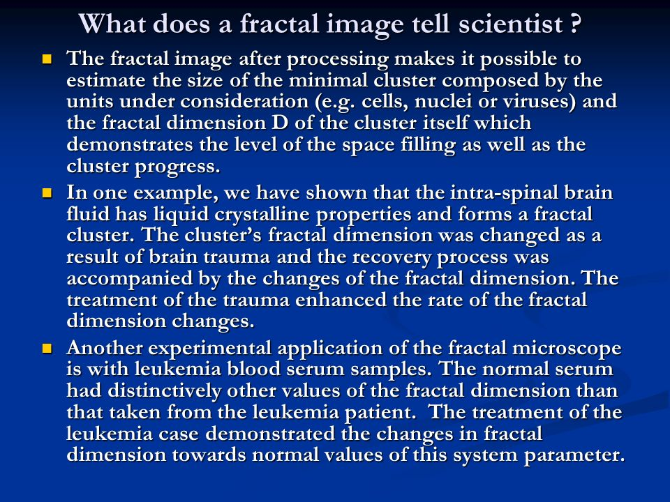 What does a fractal image tell scientist .