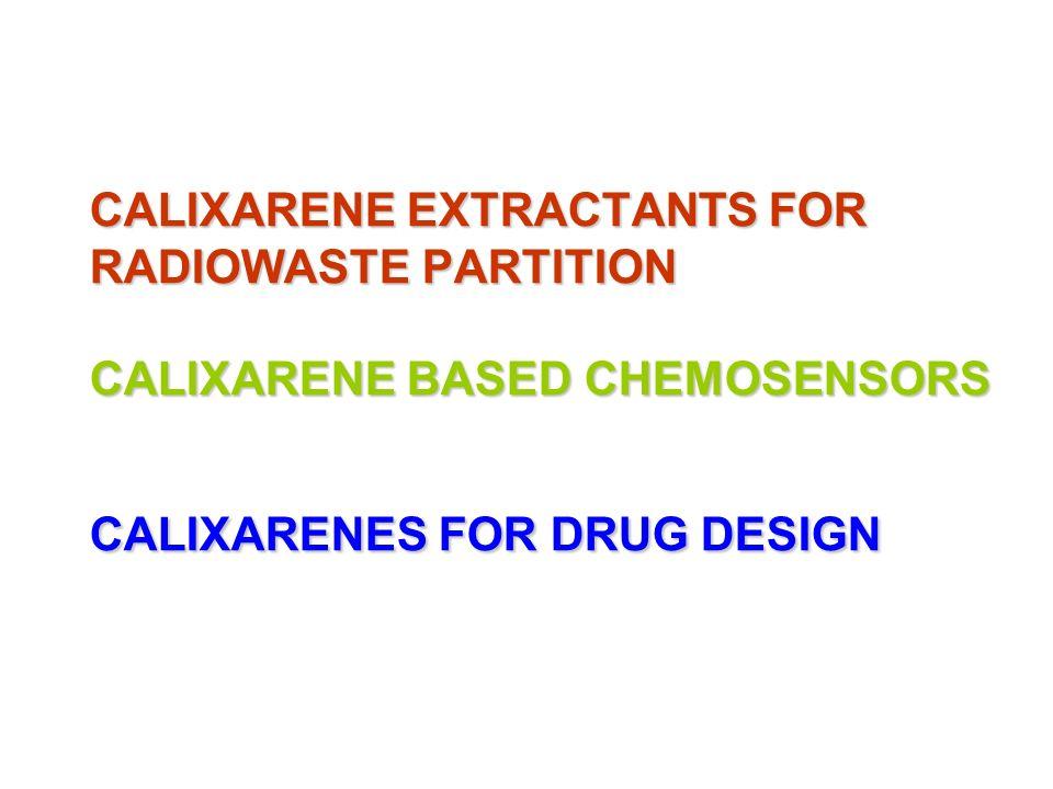 CALIXARENE EXTRACTANTS FOR RADIOWASTE PARTITION CALIXARENE BASED CHEMOSENSORS CALIXARENES FOR DRUG DESIGN