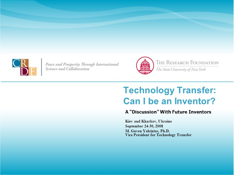 Technology Transfer: Can I be an Inventor.