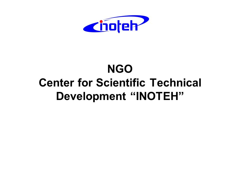 NGO Center for Scientific Technical Development INOTEH