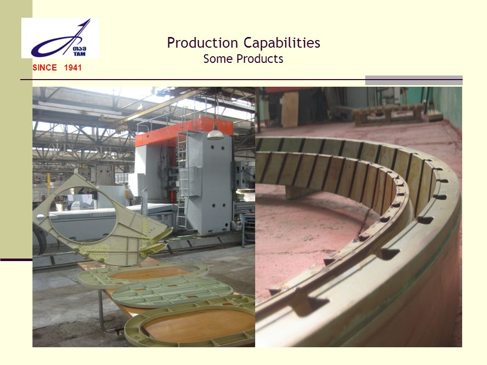 Production Capabilities Some Products SINCE 1941