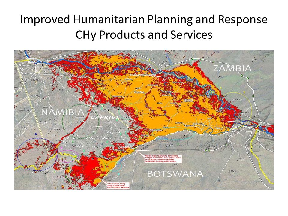 Improved Humanitarian Planning and Response CHy Products and Services