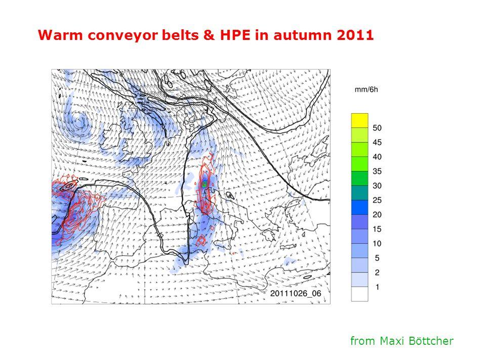 Warm conveyor belts & HPE in autumn 2011 from Maxi Böttcher