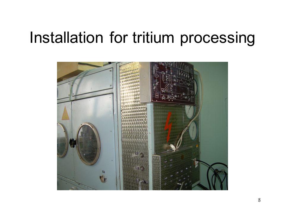 8 Installation for tritium processing