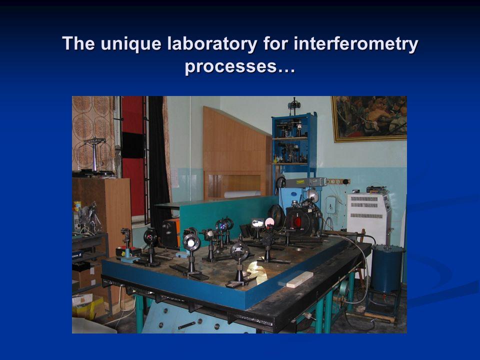 The unique laboratory for interferometry processes…