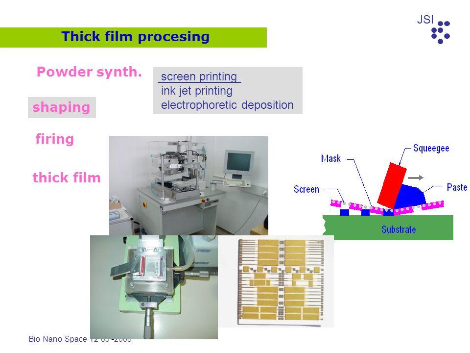JSI Bio-Nano-Space-12-03 - 2008 Powder synth. shaping firing thick film Thick film procesing screen printing ink jet printing electrophoretic depositi