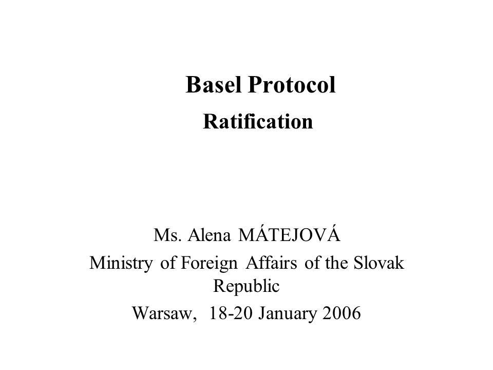 Basel Protocol Ratification Ms.