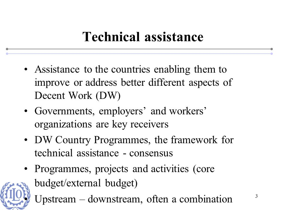 4 Decent Work Country Programme Bangladesh Child Labour (Urban informal economy) TVET Reform in Bangladesh SAFEREC Post-SIDR response (livelihoods) Flood-affected weavers Violence against women Specific activities for employers (competitiveness and productivity) Specific activities for workers (reaching out to informal economy) Employment, migration, OSH policy, SME, entrepreneurship development, standard promotion
